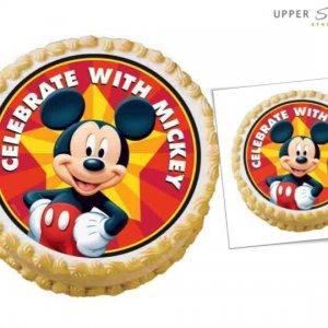 Mickey Mouse Celebrates Edible Image