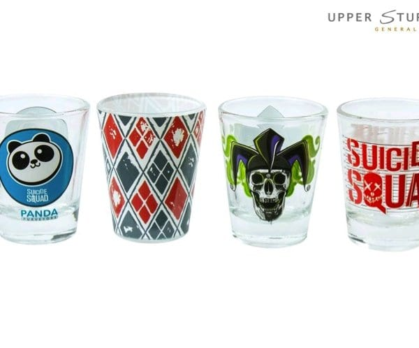 Suicide Squad - Logos Shot Glass Set of 4