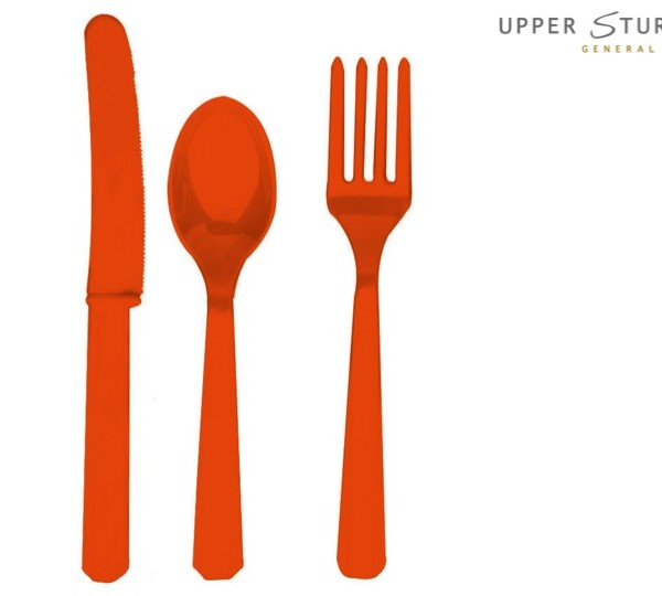 Orange Peel Forks, Knives and Spoons (8 each)