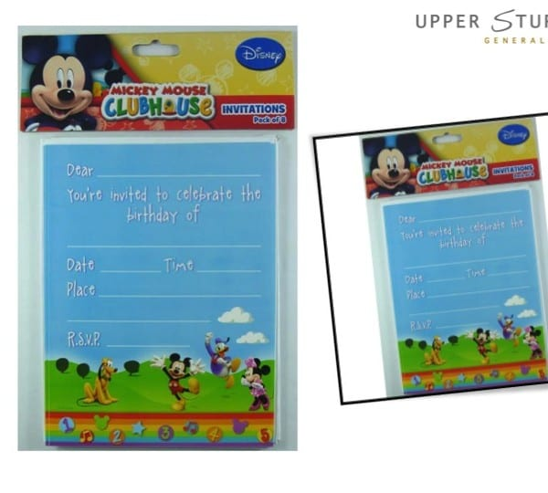 Mickey Mouse Clubhouse Invitations 8 Pack