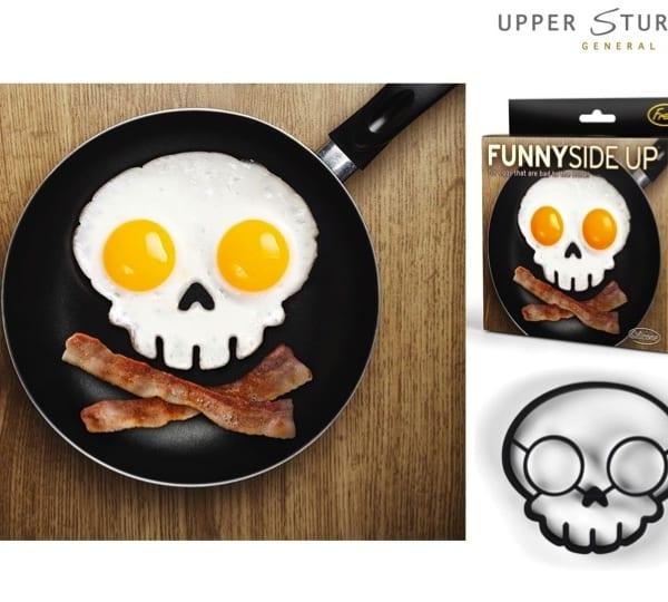 Funny Side Up Skull