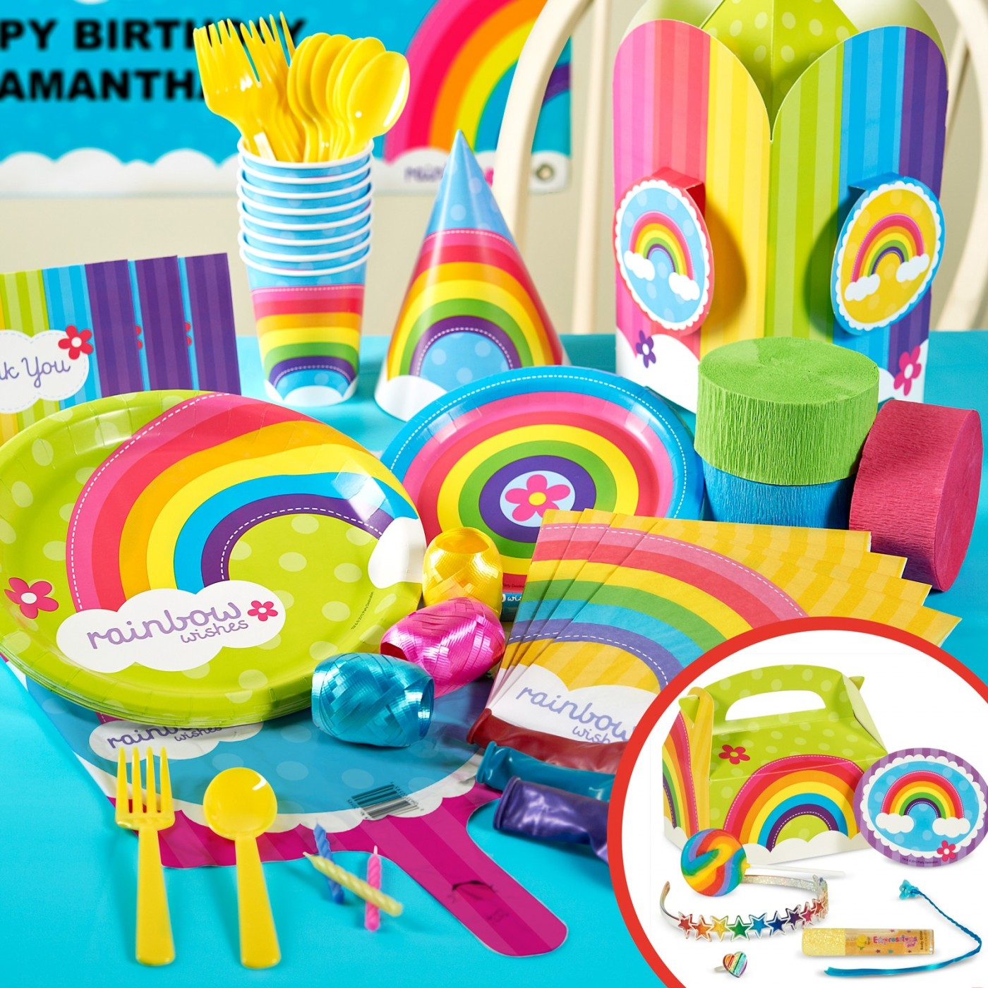Rainbow Wishes Party Supplies