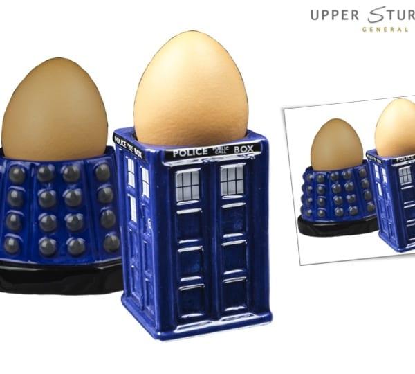 Doctor Who - TARDIS & Dalek Egg Cup Set