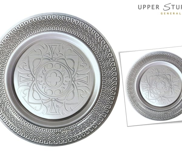 Goth Feast Silver Medieval Dinner Plates  sc 1 st  Upper Sturt General Store & Goth Feast Silver Medieval Dinner Plates - 8 Pack - Upper Sturt ...