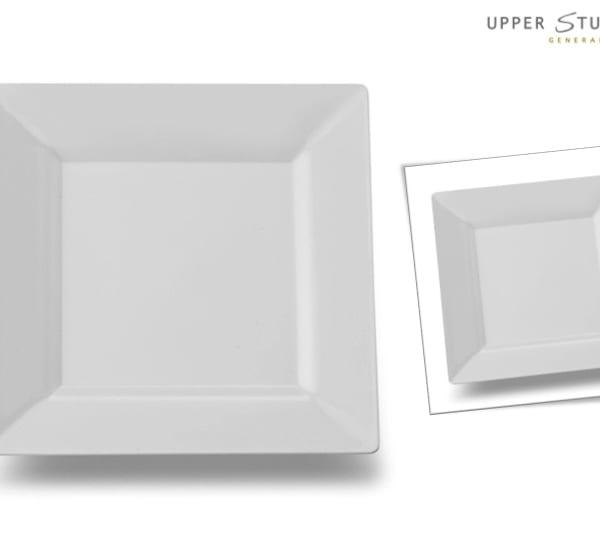 White Square Premium Plastic Dessert Plates  sc 1 st  Upper Sturt General Store & White Square Premium Plastic Dessert Plates - 10 Pack - Upper Sturt ...