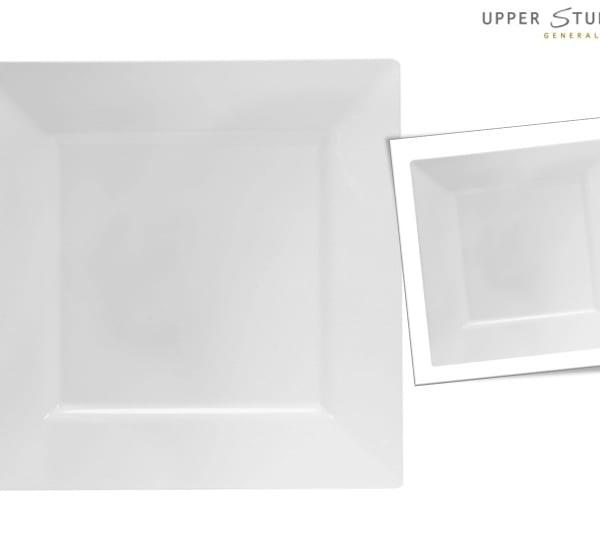 White Square Premium Plastic Dinner Plates  sc 1 st  Upper Sturt General Store & White Square Premium Plastic Dinner Plates - 10 Pack - Upper Sturt ...