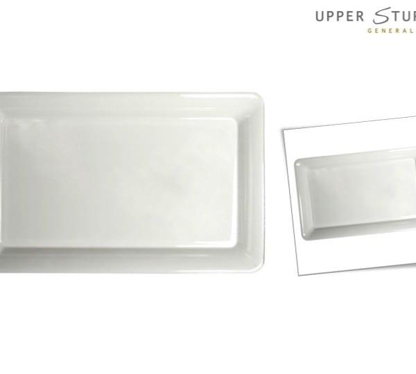 White Heavy Duty Rectangular Plastic Tray