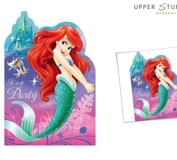 The Little Mermaid Invitations 8 Pack Upper Sturt General Store