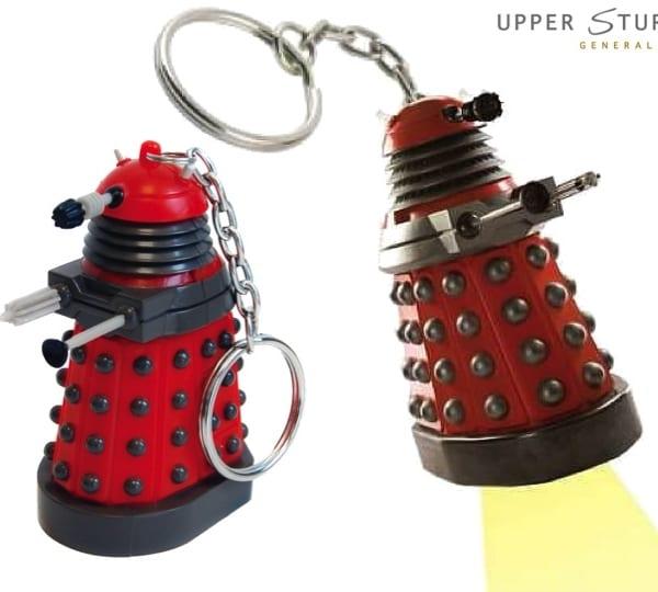 Dalek Keychain Torch - Red