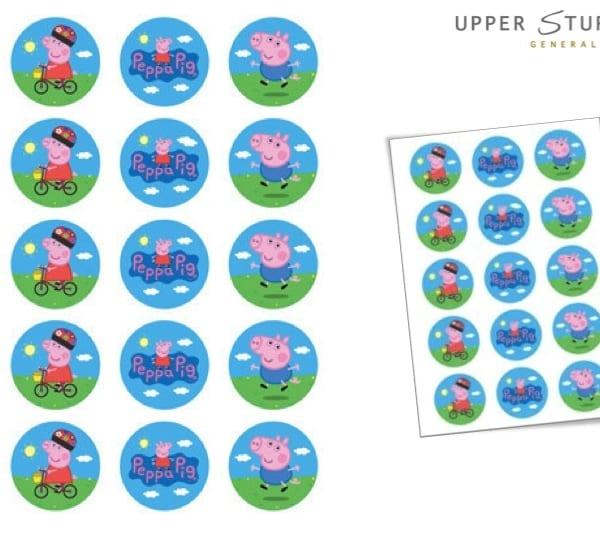 Peppa Pig Cupcake Edible Image