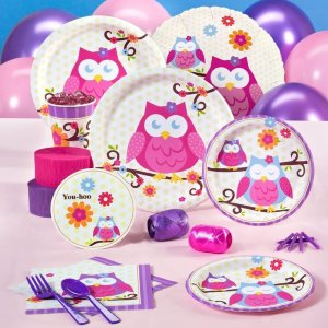 Owl Blossom Party Supplies