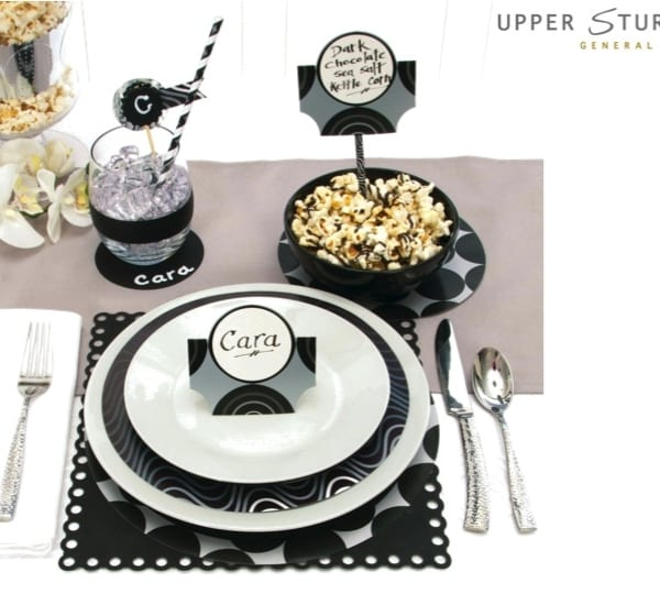 David Tutera Chalkboard Party Placecards