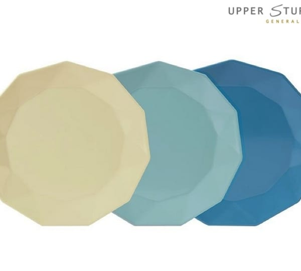 Yeddi Plate 23cm - Cold Colours (3 asst)