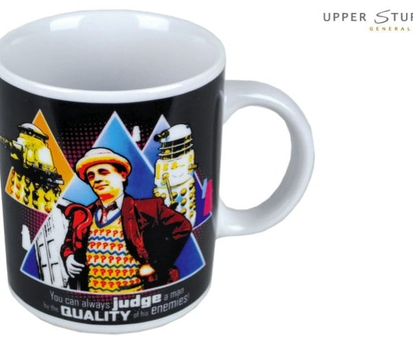 Doctor Who - Seventh Doctor _Judge A Man by the Quality of his Enemies_ Quote Boxed Mug