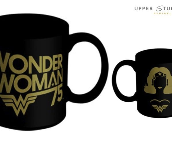 DC Comics Wonder Woman Black Gold Mug