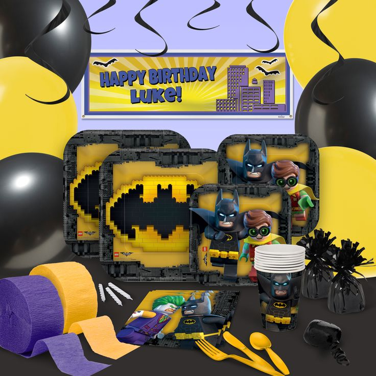Lego Batman Party Supplies