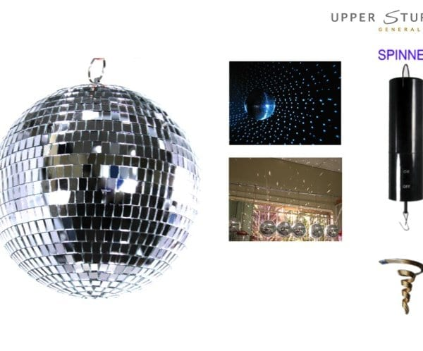 Mirror Disco Ball 20cm Including Spinner
