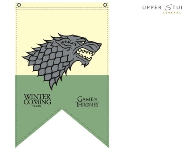 Game of Thrones Flag Stark 90cm x 150cm